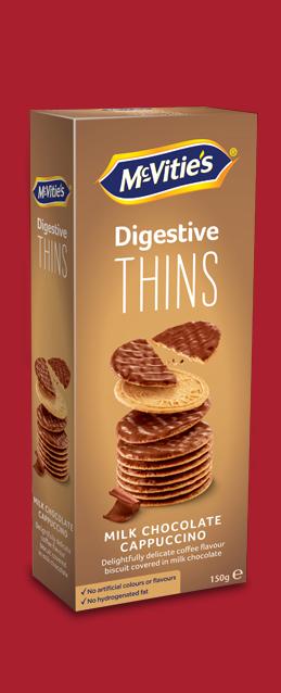 Digestive Thins Cappuccino Milk Chocolate