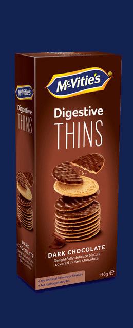 Digestive Thins Dark Chocolate NL
