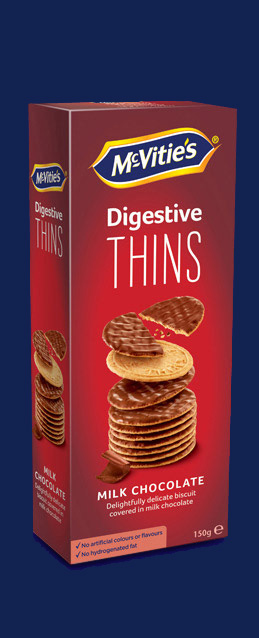 Digestive Thins Milk Chocolate NL